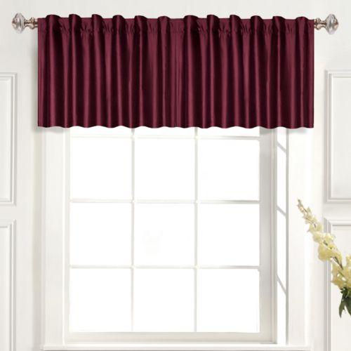 United Curtain Co. Dupioni Silk Straight Valance - 42'' x 19''