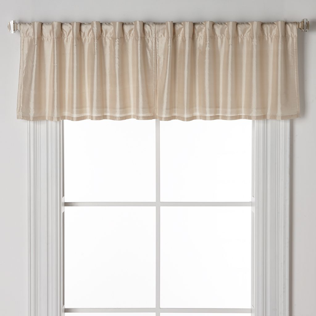 United Curtain Co. Dupioni Silk Straight Window Valance - 42