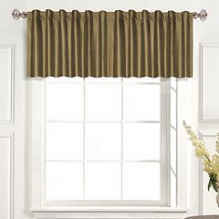 United Curtain Co. Dupioni Silk Straight Window Valance - 42' x 19'