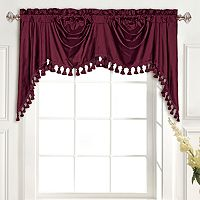 United Curtain Co. Dupioni Silk Austrian Tassle Window Valance - 108