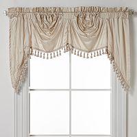 United Curtain Co. Dupioni Silk Austrian Tassle Window Valance - 108