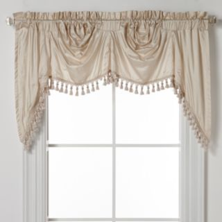 "United Curtain Co. Dupioni Silk Austrian Tassle Window Valance - 108"" x 30"""