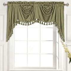 United Curtain Co. Dupioni Silk Austrian Tassle Window Valance - 108' x 30'