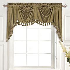 United Curtain Co. Dupioni Silk Austrian Tassle Window Valance - 108' x 30'