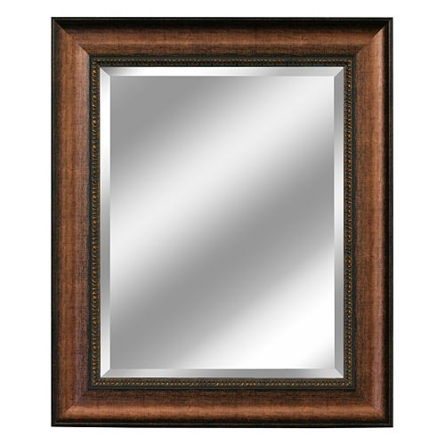 Head West Distressed Beveled Wall Mirror