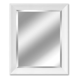 Head West White Contemporary Beveled Wall Mirror