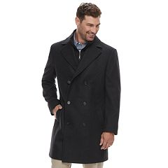 Men's Chaps Classic-Fit Wool-Blend Double-Breasted Coat