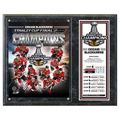 Chicago Blackhawks 2013 Stanley Cup Champions 12' x 15' Plaque