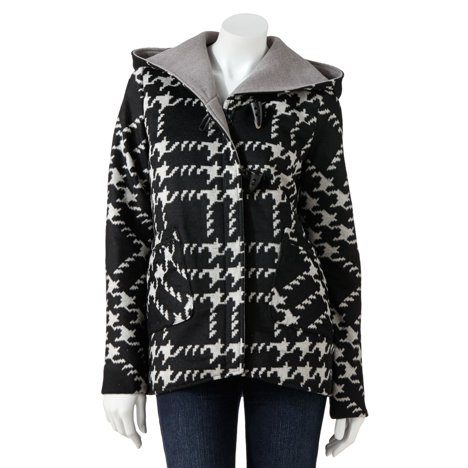Krush Hooded Houndstooth Jacket - Women's