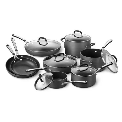 Simply Calphalon 14-pc. Hard-Anodized Nonstick Cookware Set