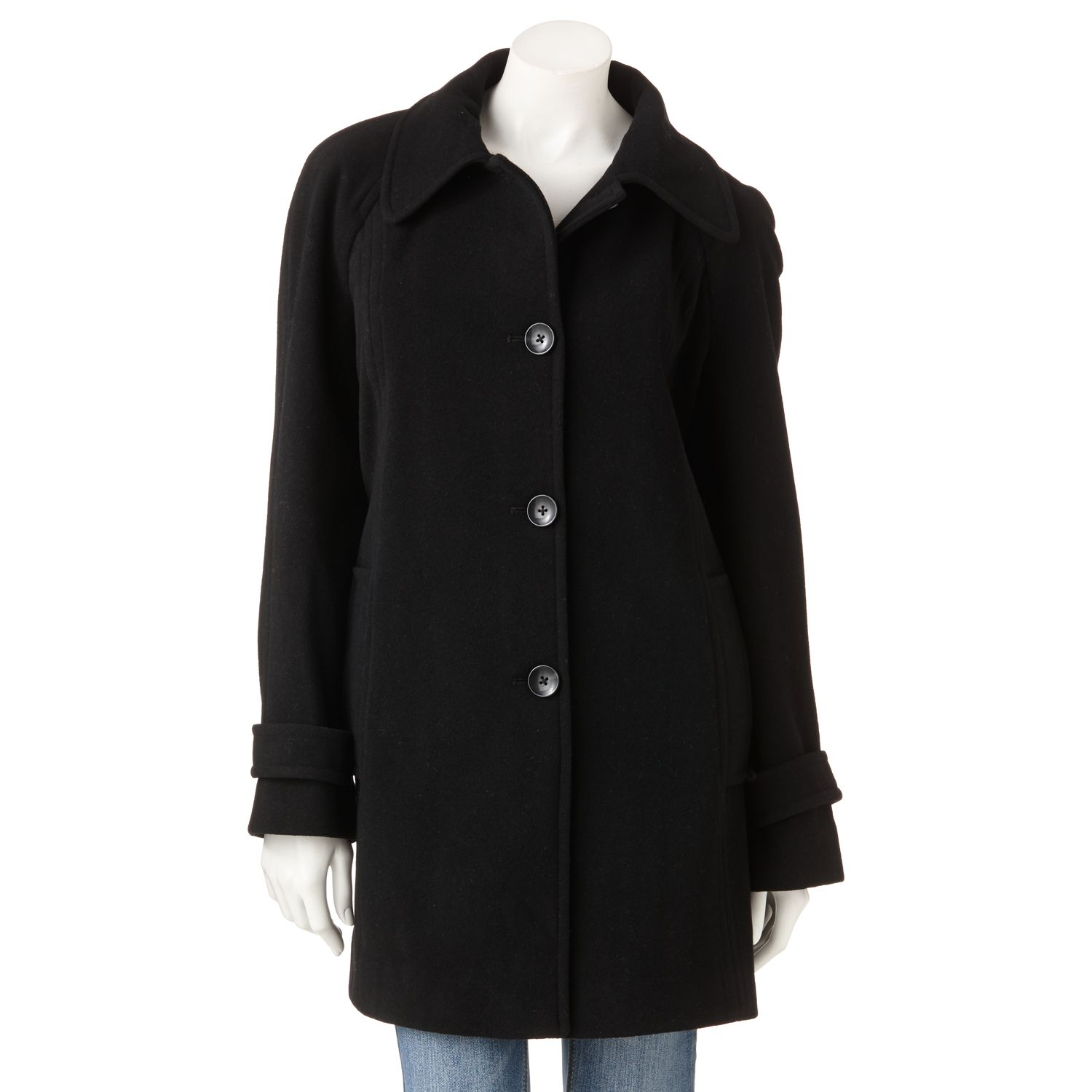 Towne by London Fog Wool-Blend Coat
