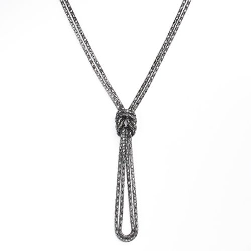 Apt. 9® Jet Mesh Knot Lariat Necklace