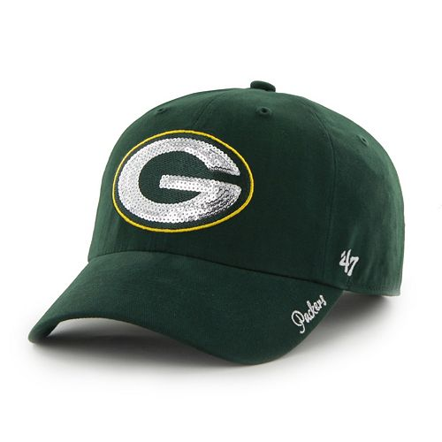 Women's '47 Brand Green Bay Packers Sparkle Adjustable Cap