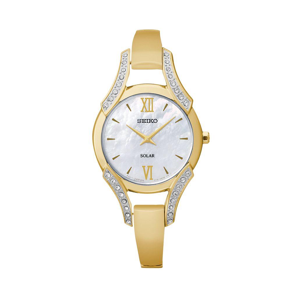 Seiko Women's Solar Half-Bangle Watch