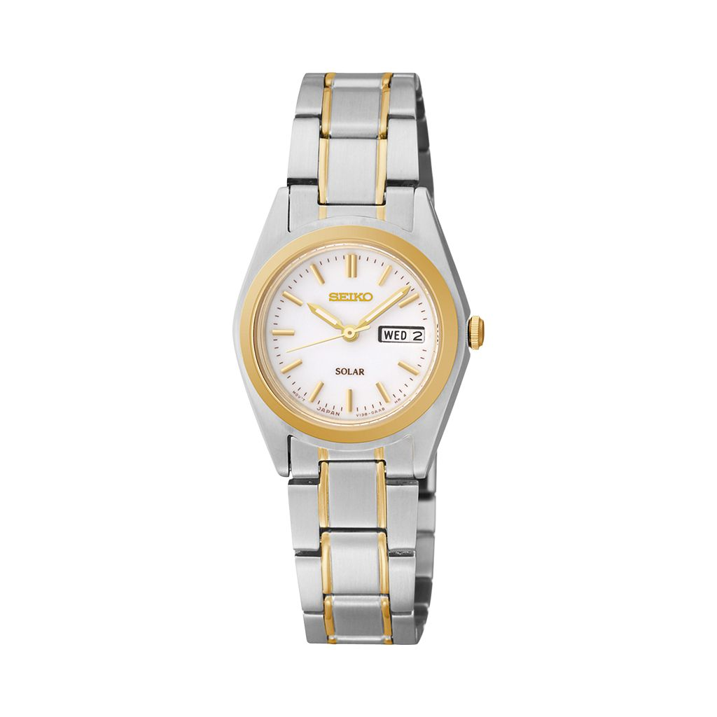 Seiko Women's Two Tone Stainless Steel Solar Watch - SUT108