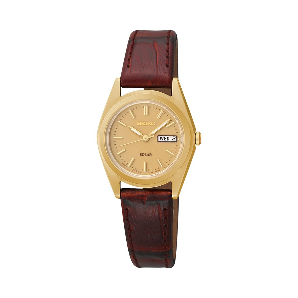 Seiko Women's Solar Leather Watch