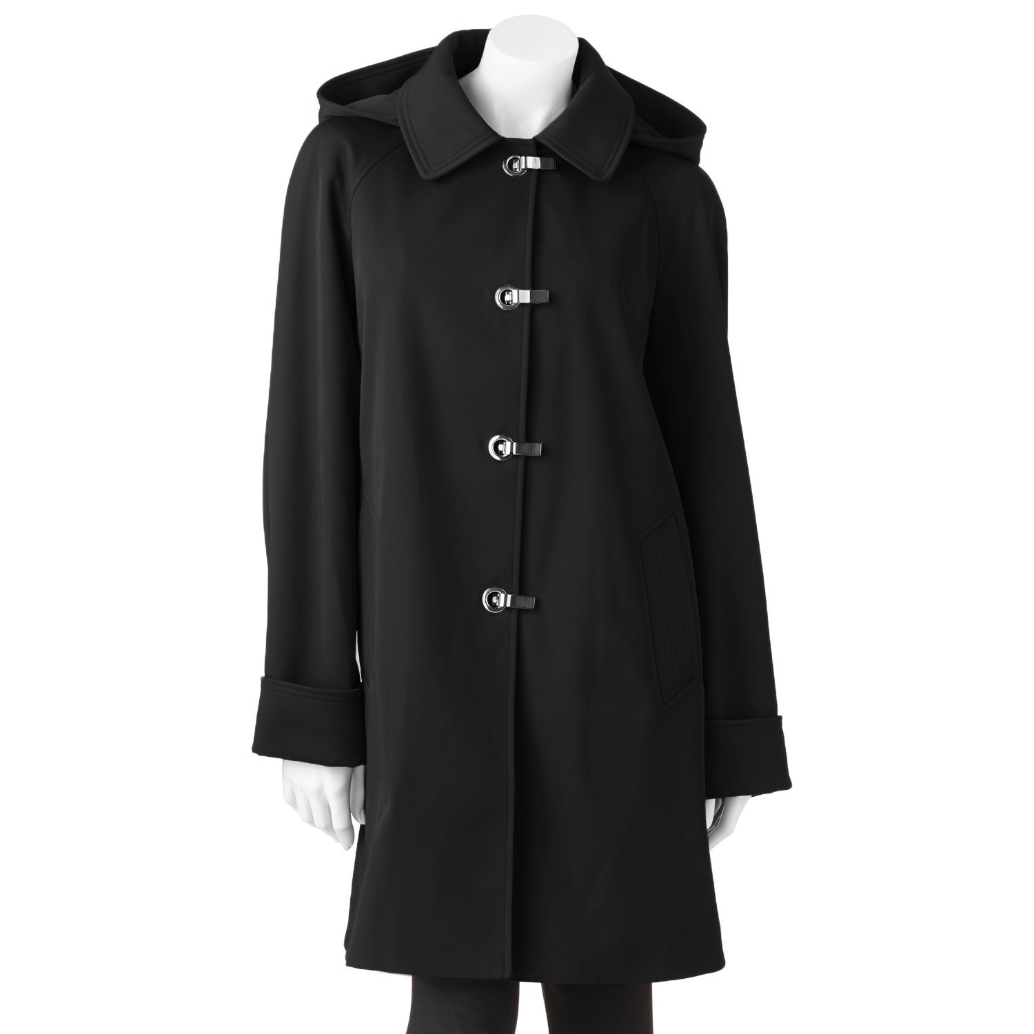 Towne by London Fog Hooded Raincoat