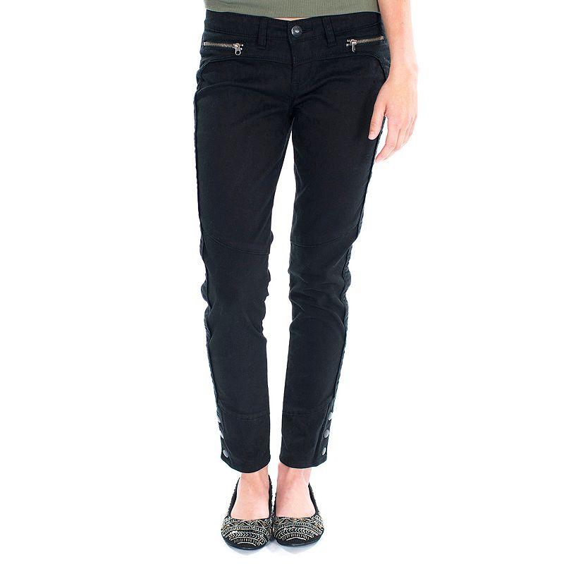 Unionbay Zipper & Button Skinny Pants - Juniors