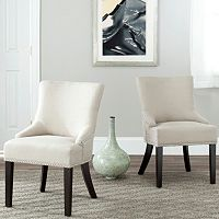 Safavieh 2 pc Lotus Beige Side Chair Set