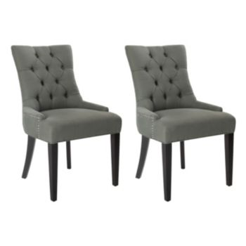 Safavieh 2-piece Abby Gray Side Chair Set
