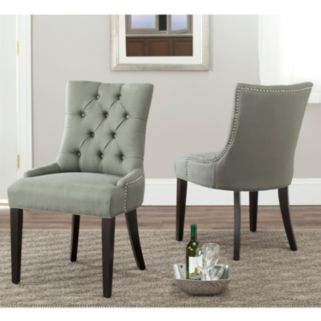 Safavieh 2-piece Abby Gray Side Chair Set