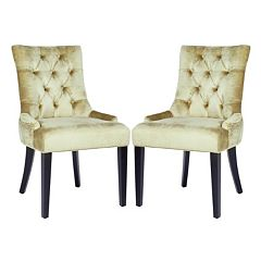 Safavieh 2 pc Abby Mink Brown Side Chair Set