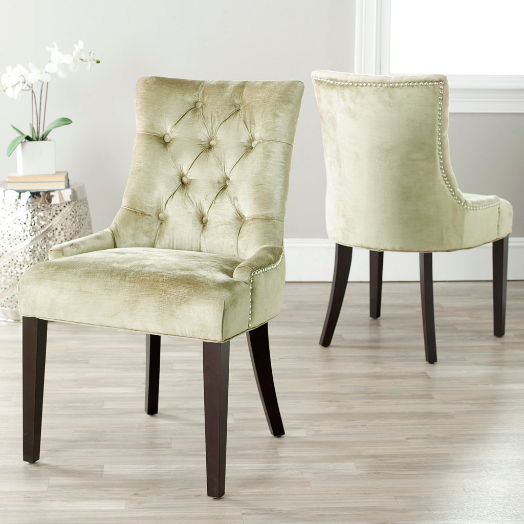 Safavieh 2-piece Abby Mink Brown Side Chair Set