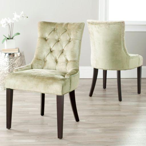 Safavieh 2-piece Abby Mink Brown Side Chair Set