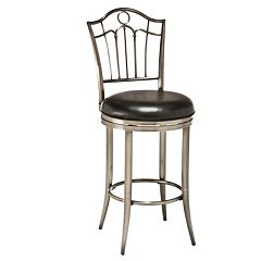 Hillsdale Furniture Portland Pewter Finish Swivel Bar Stool