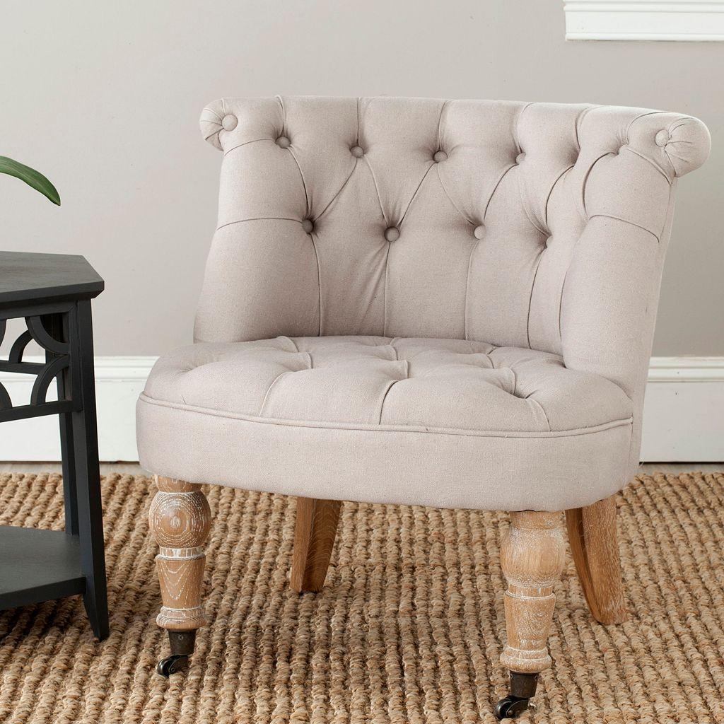 Safavieh Carlin Tufted Taupe Chair