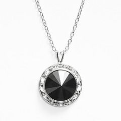 Illuminaire Silver-Plated Crystal Halo Pendant - Made with Swarovski Crystals