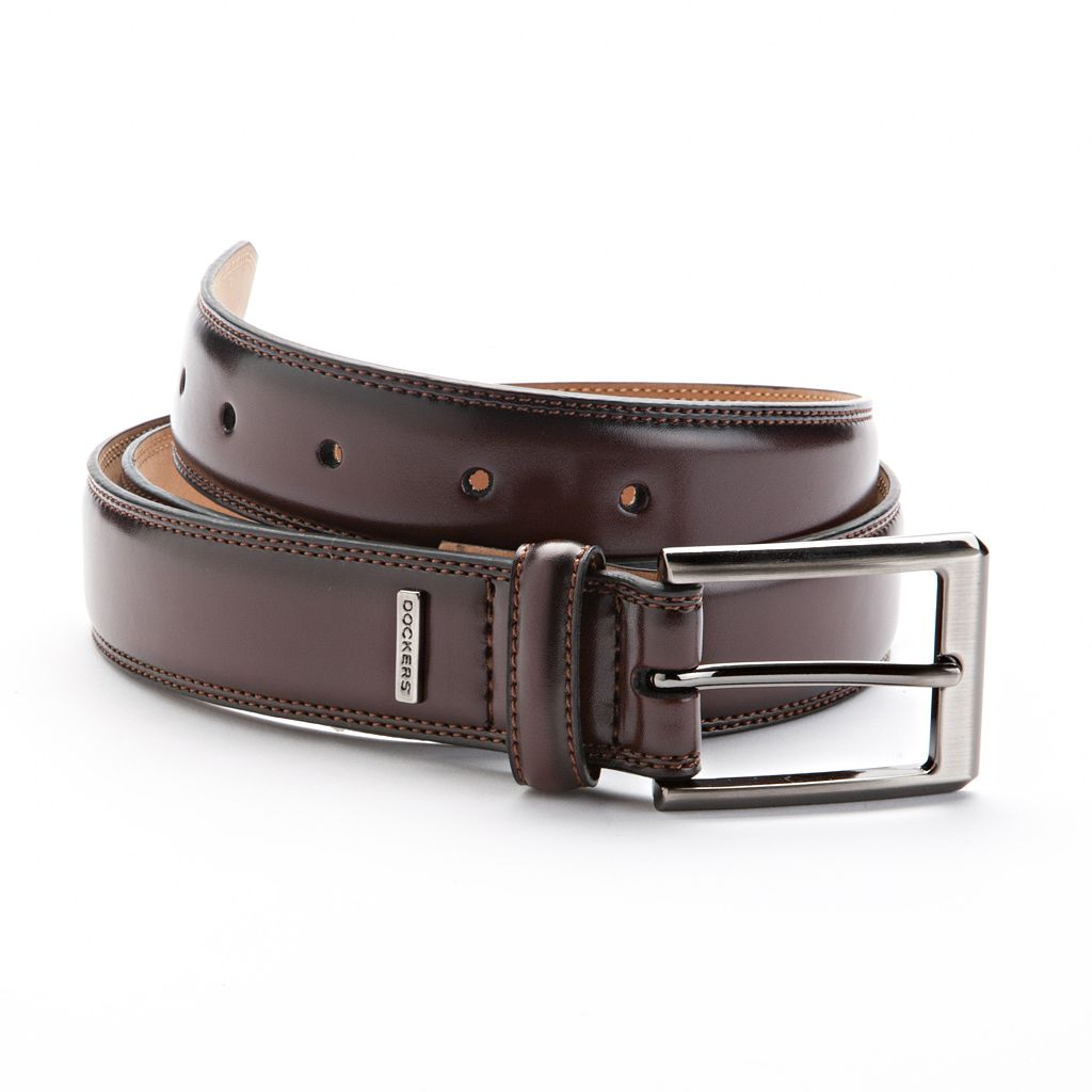 Dockers® Stitched Leather Belt - Extended Size