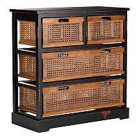Safavieh Jackson Four-Basket Storage Unit