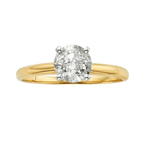 Round-Cut Diamond Solitaire Engagement Ring in 14k Gold (3/4 ct. T.W.)