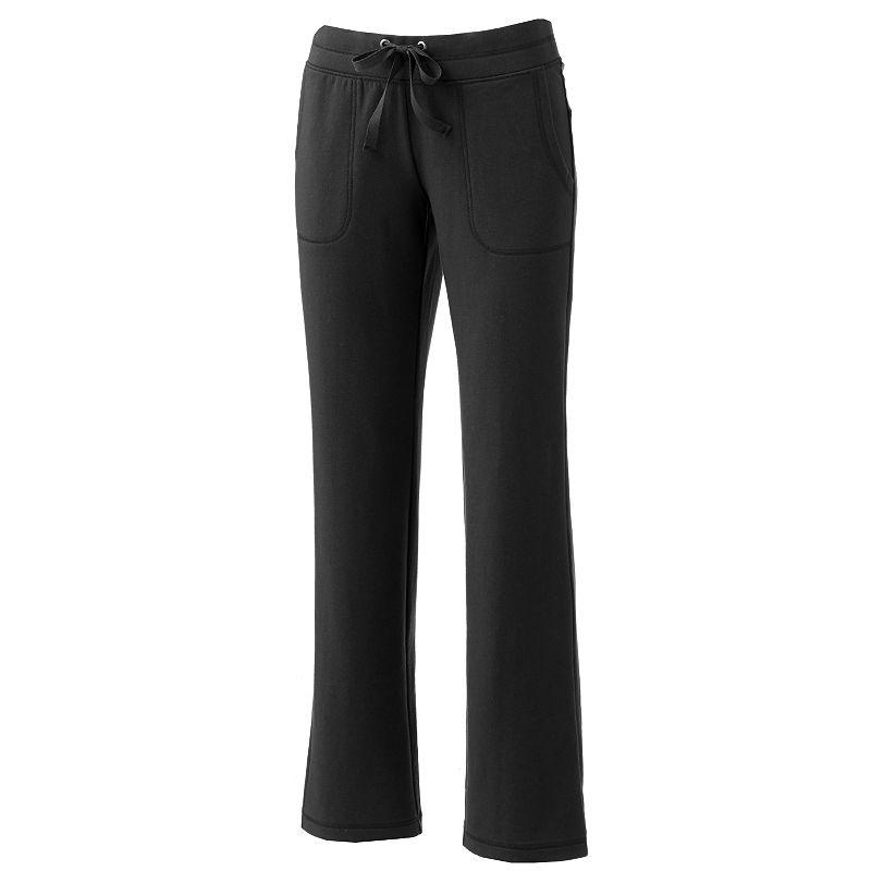 SONOMA life + style Straight-Leg Lounge Pants - Women's (Black)