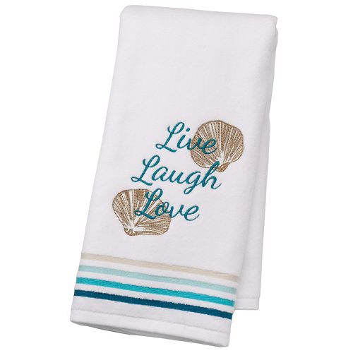 "SONOMA Goods for Life™ Shoreline ""Live Laugh Love"" Hand Towel"