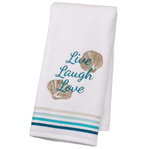 Sonoma Goods For Life Shoreline Live Laugh Love Hand Towel