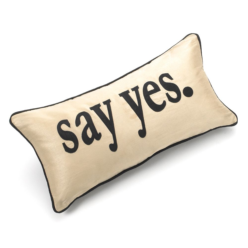 "Edie Inc. ""Say Yes"" Decorative Pillow"