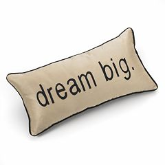 Edie Inc. Pillow Talk 'Dream Big' Decorative Pillow