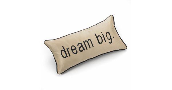 Tea Towels Pillow Talk: Edie Inc. Pillow Talk Dream Big Decorative Pillow