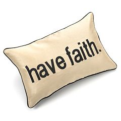 Edie Inc. Pillow Talk 'Have Faith' Decorative Pillow