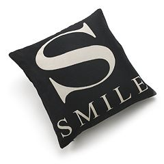 Edie Inc. 'S as in Smile' Decorative Pillow