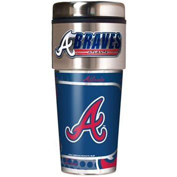 Atlanta Braves Stainless Steel Metallic Travel Tumbler