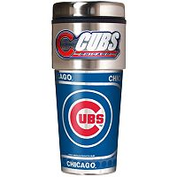 Chicago Cubs Stainless Steel Metallic Travel Tumbler