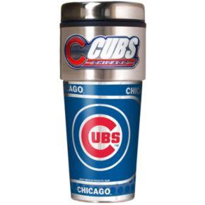 Chicago Cubs Stainless Steel Metallic Travel Tumbler