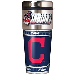 Cleveland Indians Stainless Steel Metallic Travel Tumbler