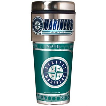 Seattle Mariners Stainless Steel Metallic Travel Tumbler