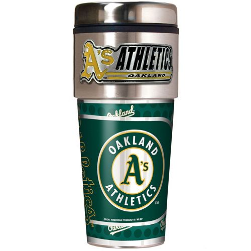 Oakland Athletics Stainless Steel Metallic Travel Tumbler