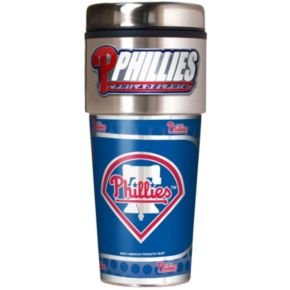 Philadelphia Phillies Stainless Steel Metallic Travel Tumbler