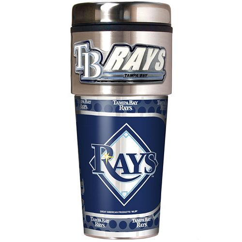 Tampa Bay Rays Stainless Steel Metallic Travel Tumbler